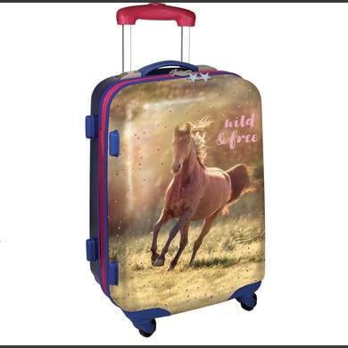 Kinderkoffer - SPIEGELBURG COPPENRATH Hartschalentrolley wild free – Pferdefreunde - Onlineshop Babymarkt