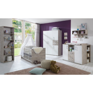 Babyzimmer - arthur berndt Kinderzimmer Bente 4 türig mit Umbauseiten natur Gr.70x140 cm  - Onlineshop Babymarkt