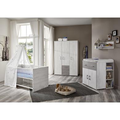 Babyzimmer - arthur berndt Kinderzimmer Fredi 3 türig mit Umbauseiten grau Gr.70x140 cm  - Onlineshop Babymarkt