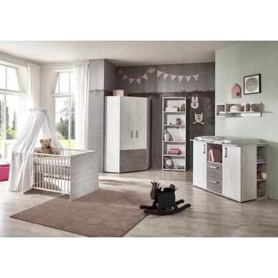 Babyzimmer - arthur berndt Kinderzimmer Insa 2 türig mit Umbauseiten grau Gr.70x140 cm  - Onlineshop Babymarkt