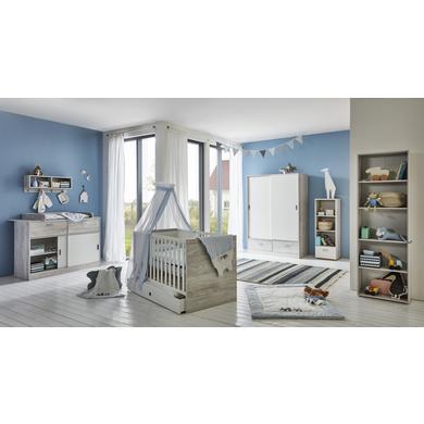 Babyzimmer - arthur berndt Kinderzimmer Justus 2 türig mit Umbauseiten grau Gr.70x140 cm  - Onlineshop Babymarkt