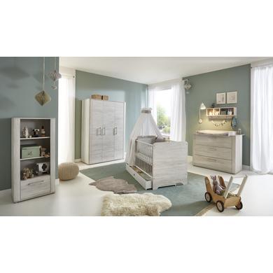Babyzimmer - arthur berndt Kinderzimmer Leon 3 türig mit Umbauseiten natur Gr.70x140 cm  - Onlineshop Babymarkt