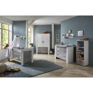 Babyzimmer - arthur berndt Kinderzimmer Lola 2 türig mit Umbauseiten natur Gr.70x140 cm  - Onlineshop Babymarkt