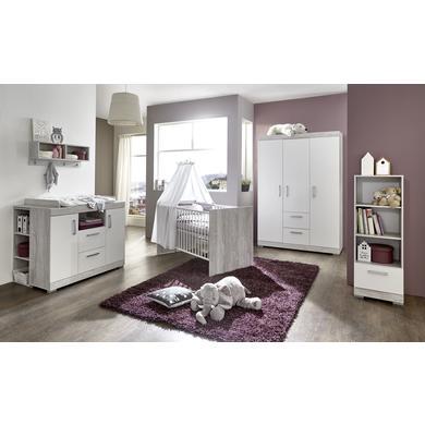 Babyzimmer - arthur berndt Kinderzimmer Victor 3 türig mit Umbauseiten grau Gr.70x140 cm  - Onlineshop Babymarkt