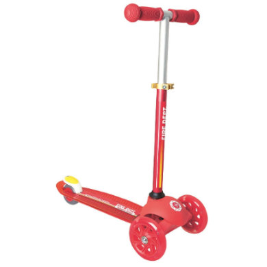 Authentic Sports Kidsscooter UP Muuwmi 'Scooter Patrol' Fire mit Leuchtrollen, rot