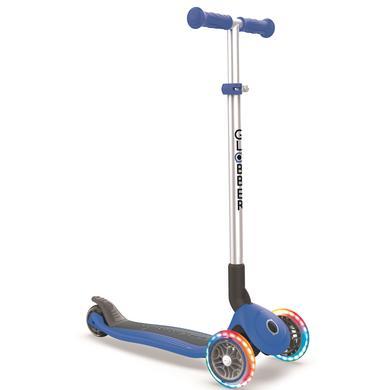 Roller - Globber Scooter Primo Foldable mit Leuchtrollen, navy blau - Onlineshop
