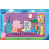 Ravensburger Frame puzzle - Peppa Pig: Peppa på datamaskinen, 15 stk