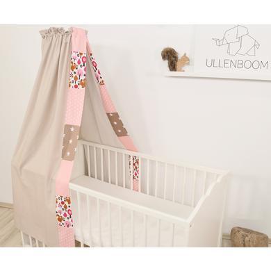 Kindertextilien - Ullenboom Baby Betthimmel Baldachin 135x200 cm Sand Eichhörnchen bunt Gr.135x200 cm  - Onlineshop Babymarkt