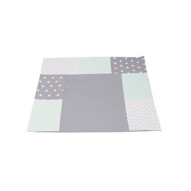 Wickelmöbel und Zubehör - Ullenboom Patchwork Wickelauflagen Bezug Mint Grau 75x85 cm bunt  - Onlineshop Babymarkt