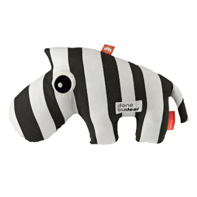Done by Deer ™ peluches Zebra Zebra Zebee rayé, noir/blanc