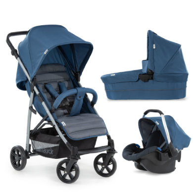 hauck  Rapid 4 Plus Trio Set Denimgrey 2020 - modrá