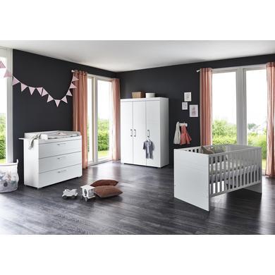 Babyzimmer - arthur berndt Kinderzimmer Liene 3 türig mit Umbauseiten weiß Gr.70x140 cm  - Onlineshop Babymarkt