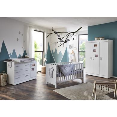 Babyzimmer - arthur berndt Kinderzimmer Marisa 3 türig mit Umbauseiten weiß Gr.70x140 cm  - Onlineshop Babymarkt