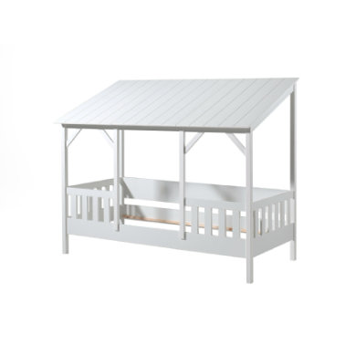 Kinderbetten - VIPACK Hausbett 90 x 200 cm mit weißem Dach  - Onlineshop Babymarkt