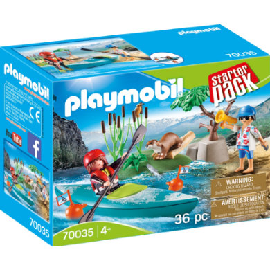 PLAYMOBIL Family Fun StarterPack Canoe Training 70035