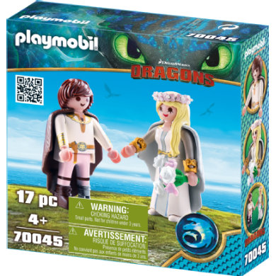 PLAYMOBIL DRAGONS Astrid and Hicks 70045