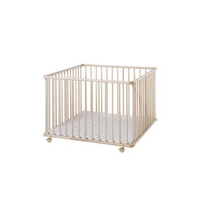 Laufgitter - Schardt Laufgitter Basic natur 100 x 100 cm Sternchen grau  - Onlineshop Babymarkt