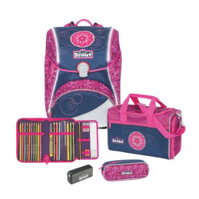 Scout Alpha - Sada 4 dílná Safety Light Pink Mandala