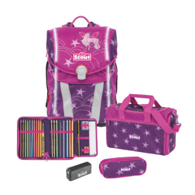 Scout Sunny - Sada 4-dílná Safety Light Unicorn Star