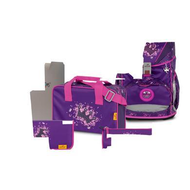 Schulranzen - DerDieDas® ErgoFlex – Purple Princess, 5–tlg. - Onlineshop Babymarkt