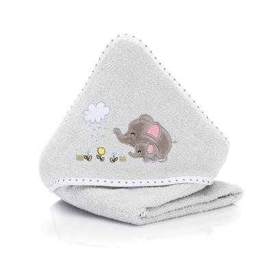 Kindertextilien - fillikid Kapuzenbadetuch Elefant grau 75x75 cm  - Onlineshop Babymarkt