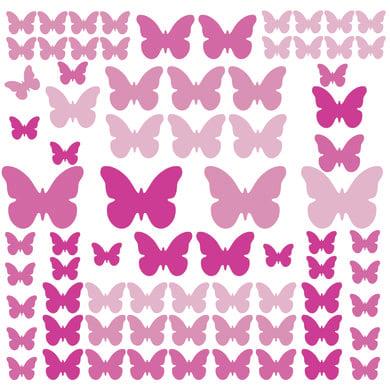 Wanddekoration - RoomMates® Wandsticker Schmetterlinge Pink bunt  - Onlineshop Babymarkt