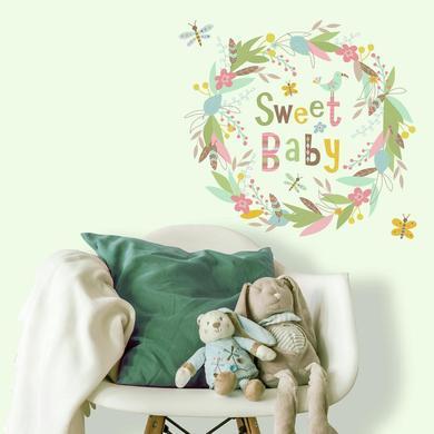 Samolepka na zeď RoomMates - nápis Sweet Baby.