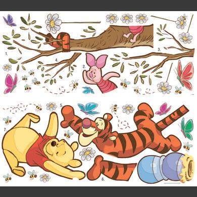 Wanddekoration - RoomMates® Wandsticker Disney Winnie Puuh schnappt den Honig bunt  - Onlineshop Babymarkt