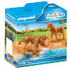 PLAYMOBIL® Figurine couple de tigres et bébé Family Fun 70359