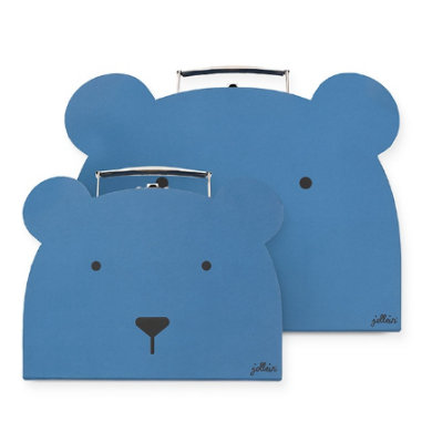 Jollein Spielzeugkoffer Animal club steel blue 2er-Set