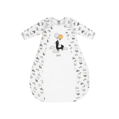 Jacky Spací pytel Lama s polstrovanou bílou celoplošnou potiskem s odnímatelnými rukávy - bílá - Gr.Novorozenci (0 - 6 měsíců)