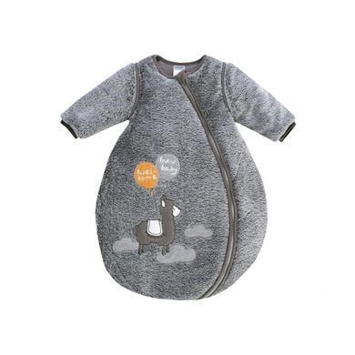 Jacky Spací pytel Lama s čalouněným šedým lemem s odnímatelnými rukávy - šedá - Gr.Novorozenci (0 - 6 měsíců)