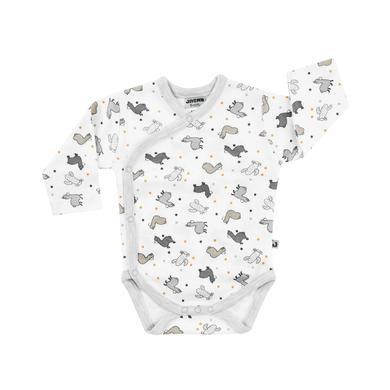 Babywaesche - JACKY Lama Wickelbody langarm gemustert - Onlineshop Babymarkt