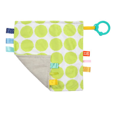 b right start ™ Cuddle cloth Little Taggies green