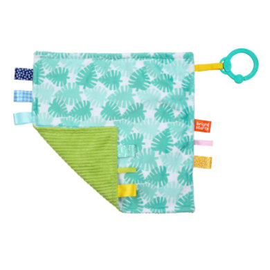 b right start ™ Cuddle cloth Little Taggies dlaně modrá  zelená
