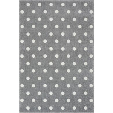 LIVONE Barnmatta Kids Love Rugs Circle silvergrå/vit 160 x 220 cm