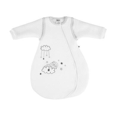 Jacky Dream spací pytel polstrovaný odnímatelnými rukávy z bílé - bílá - Gr.Novorozenci (0 - 6 měsíců)