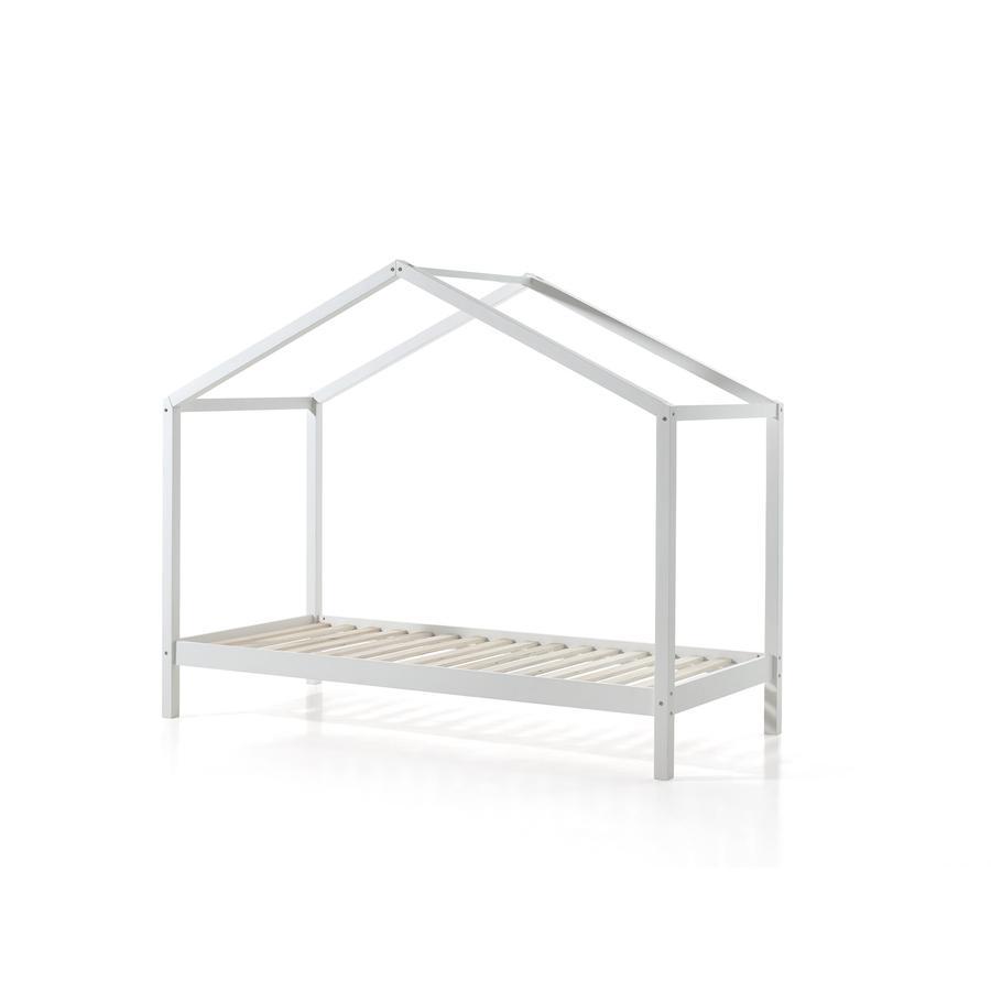 Kinderbetten - VIPACK Hausbett Dallas 3 90 x 200 cm weiß  - Onlineshop Babymarkt