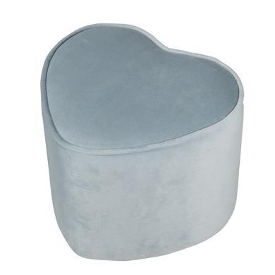 roba Dětská stolička ve tvaru srdce, světle modrá