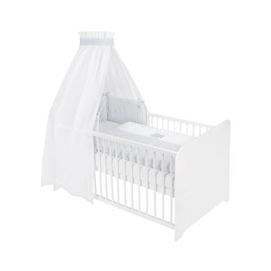 Kindertextilien - JULIUS ZÖLLNER Bettset 3 tlg. Bär Spots grey  - Onlineshop Babymarkt