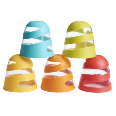 Tiny Love ™ Bath Toys Spiral Splash Cups - spirála sada 5 šálků