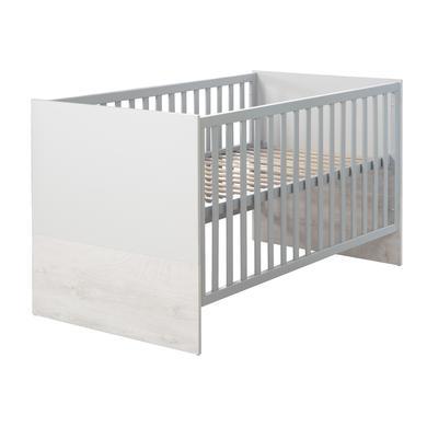 roba kombinovaná dětská postel Maren 2 - šedá - Gr.70 x 140 cm