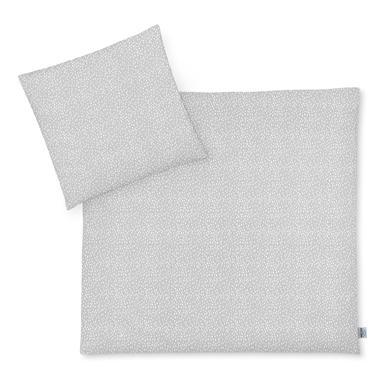 JULIUS ZÖLLNER Jersey ložní prádlo medvěd / skvrny šedá 80 x 80 cm