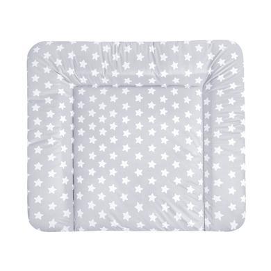 Wickelmöbel und Zubehör - JULIUS ZÖLLNER Wickelauflage Softy Folie Sterne grau 85 x 75 cm  - Onlineshop Babymarkt