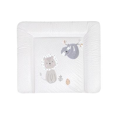 Wickelmöbel und Zubehör - JULIUS ZÖLLNER Wickelauflage Softy Folie Löwe Faultier 85 x 75 cm  - Onlineshop Babymarkt