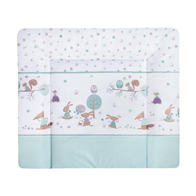 Wickelmöbel und Zubehör - JULIUS ZÖLLNER Wickelauflage Softy Happy Animals mint 65 x 75 cm  - Onlineshop Babymarkt