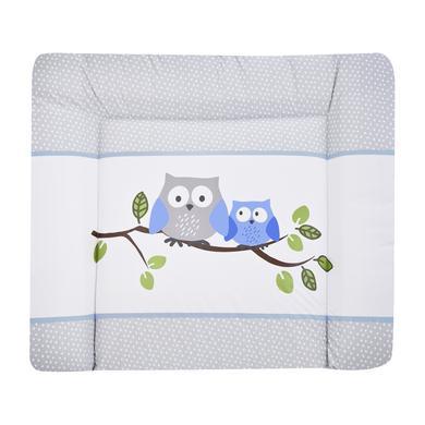 Wickelmöbel und Zubehör - JULIUS ZÖLLNER Wickelauflage Softy Kleine Eulen blau 65 x 75 cm  - Onlineshop Babymarkt