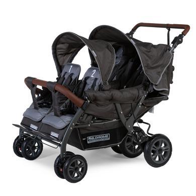 CHILDHOME Vierlingwagen Quadruple Autobrake antraciet