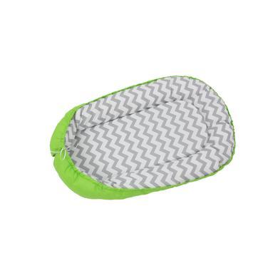Levně Polini Kids Baby Nest Cikcak zelený
