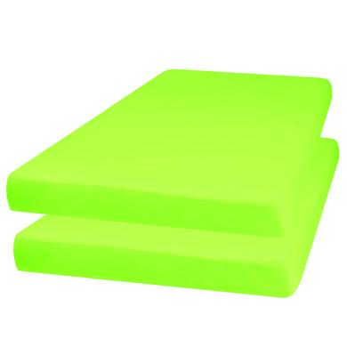 Playshoes Jersey Spannbettlaken 2er-Pack grün